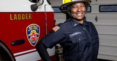 Firefighter Shelby Thompson  Buffalo's First Black  Female Lieutenant in Dept. History!