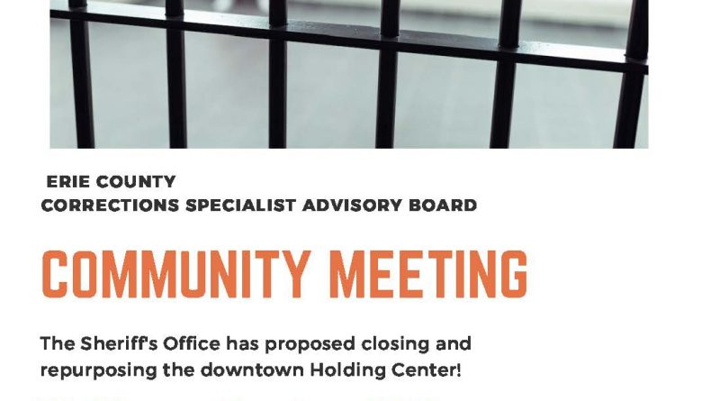 This Community Emergency Needs Your Voice! The Sheriff's Office Has Proposed Closing And Repurposing The Downtown Holding Center. We Need to Hear From You!